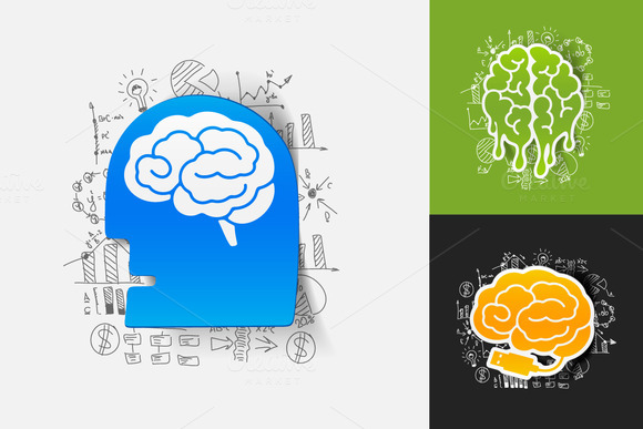 6 BRAIN STICKERS-business Formulas
