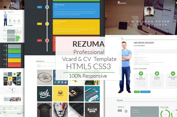 Rezuma Professional Vcard CV