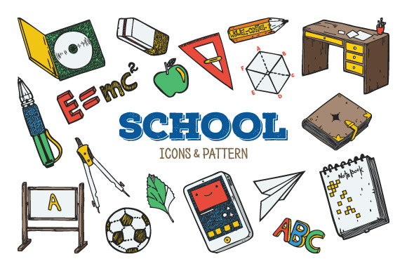 School Icons Pattern