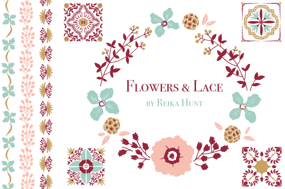 Wedding Florals Vector Clip Art