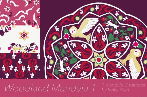 Woodland Mandala 1 Vector Clip Art