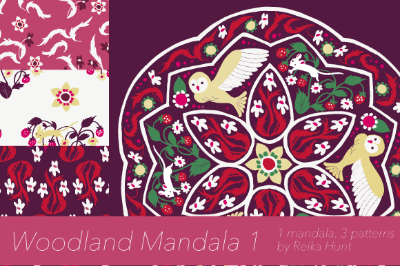 Woodland Mandala 1 Clip Art