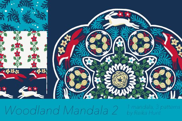 Woodland Mandala 2 Vector Clip Art