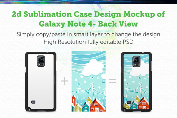 Galaxy Note 4 2d Sublimation Mock-up