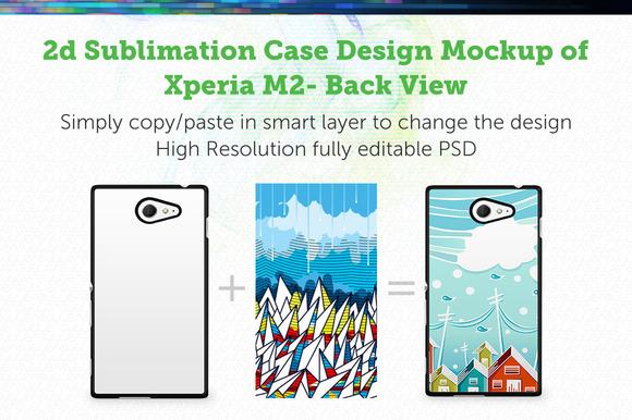 Xperia M2 2d Sublimation Mock-up