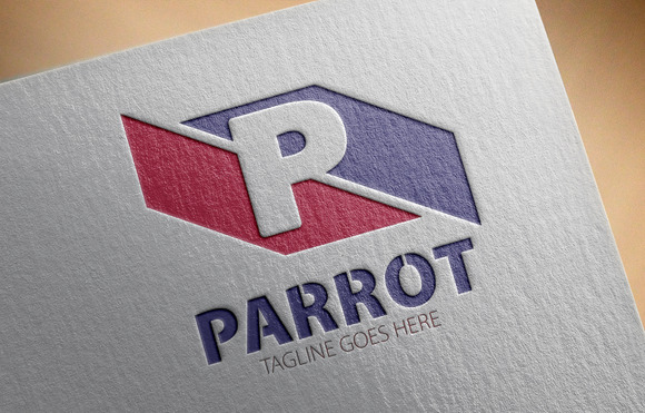 Parrot P Letter Logo