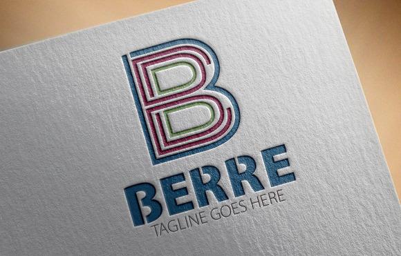 Berre B Letter Logo
