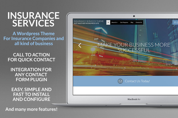 Insurance Services Wordpress Theme