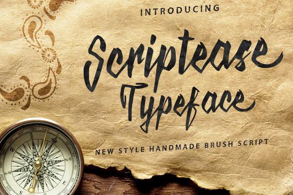 Scriptease Typeface