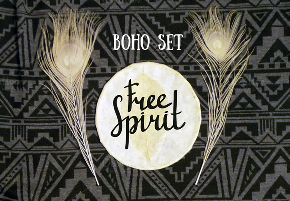 BOHO Cards And Seamless Pattern