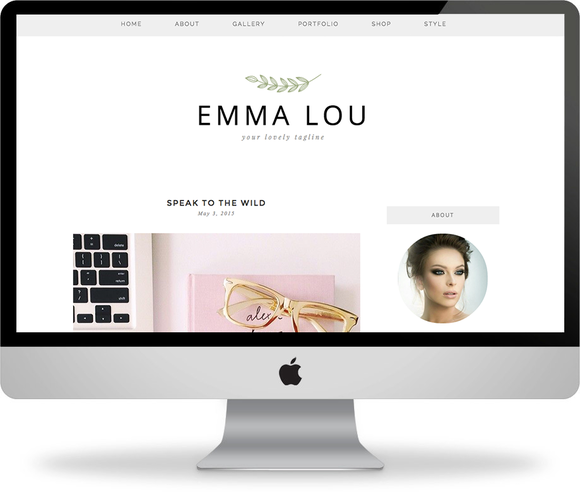 Emma Lou Premade Wordpress Theme