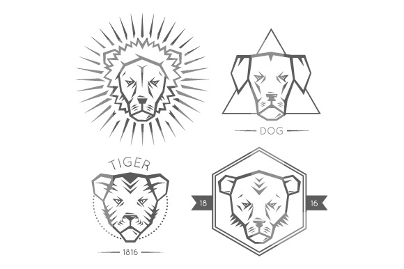 Animals Portrait Logo