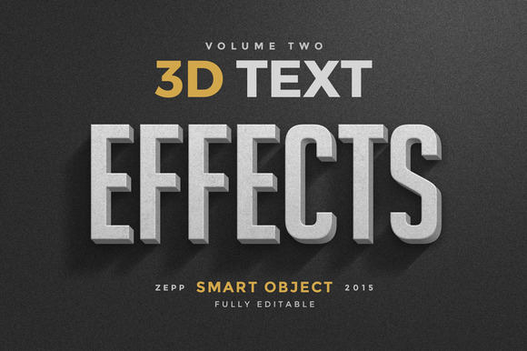 3D Text Effects Vol.2
