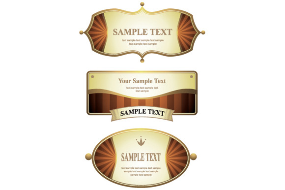 Set Of Design Label Elements