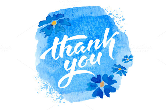 Thank You Vector Script Lettering