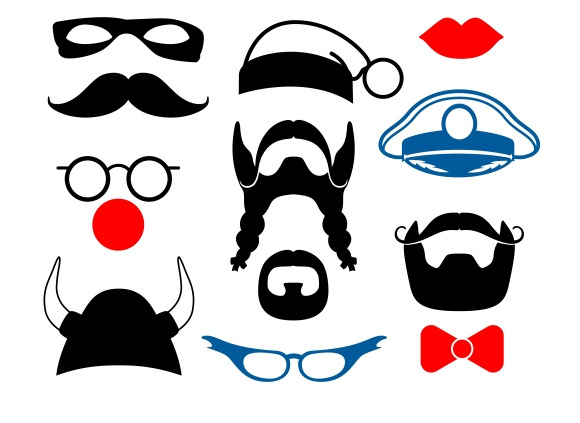 False Mustaches Masks And Hats