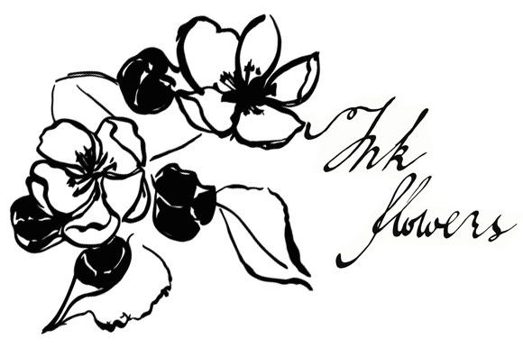 Sakura Flowers Ink