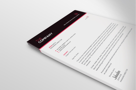Clean Letterhead Template