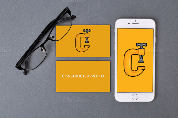 IPhone 6 Business Cards PSD Mockup