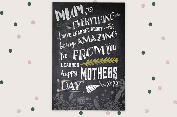 Typography Mothers Day Digital Card