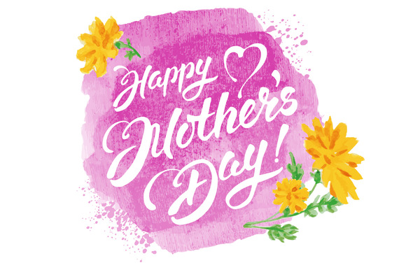 Mother S Day Vector Lettering