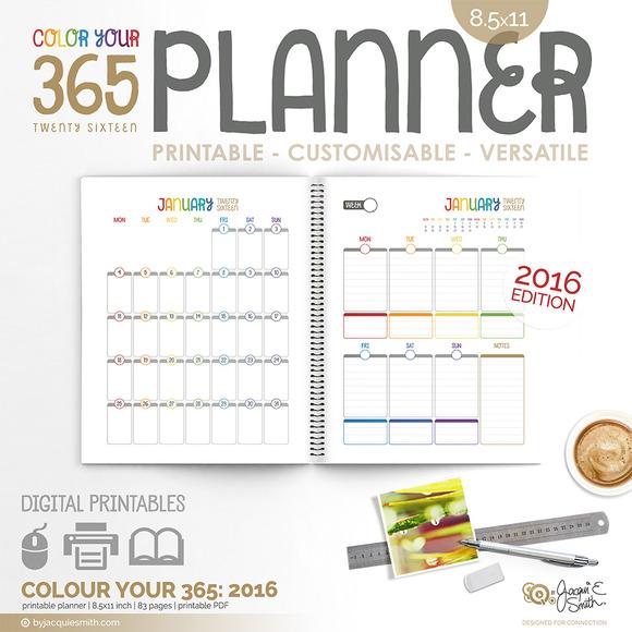 PDF Printable Planner 2016 CY365