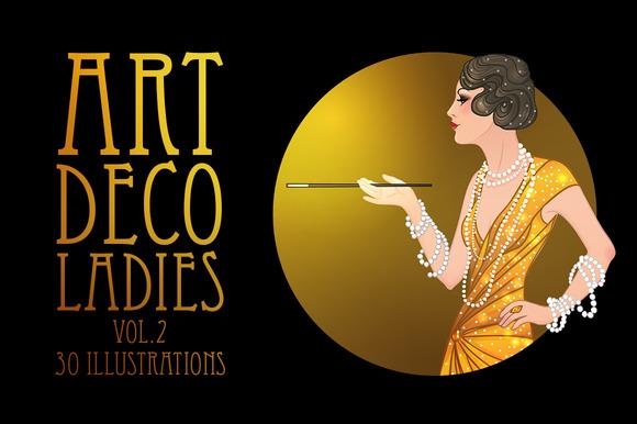 Art Deco Girls Illustrations Vol 2