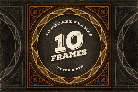 10 Decorative Square Frames