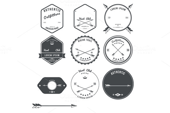 Set Of Vintage Hunt Icons Emblems