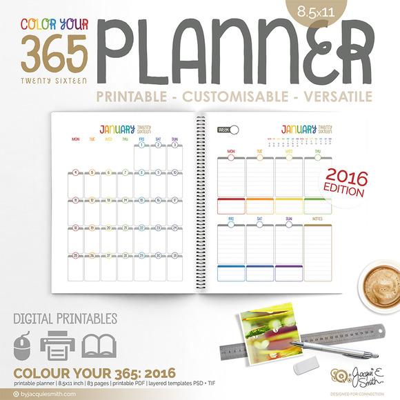 Printable Planner 2016 CY365