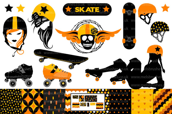 Roller Derby Skateboard Graphics