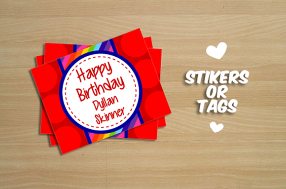 Tags Or Stikers For Gift