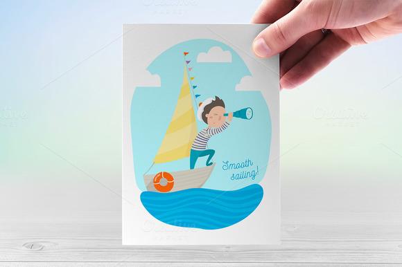 Brave Sailor Vector Illustration