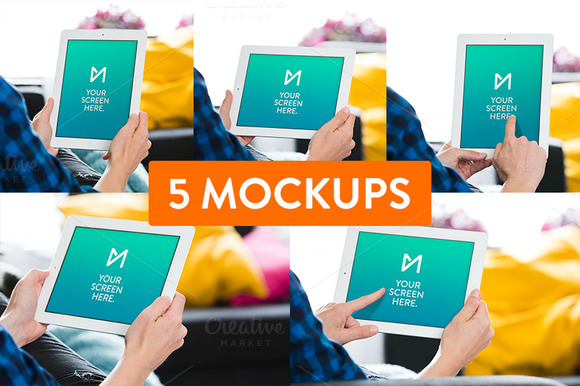 5x Apple IPad Mockup Psd S