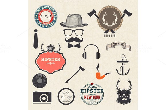 Hipster Style Design Icons