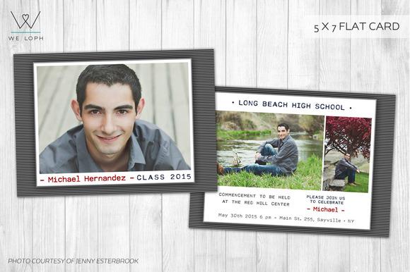 Senior Boy Graduation Card Template