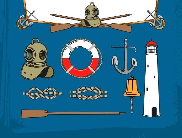 Vintage Nautical Elements