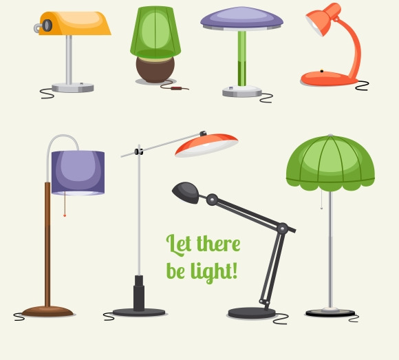 Floor Lamp And Table Lamp Icons