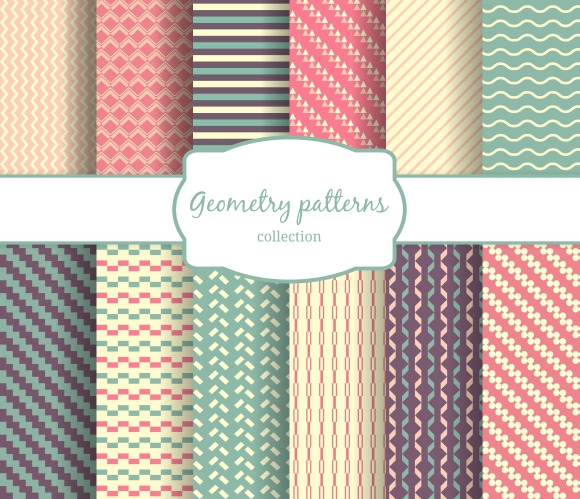 Seamless Vector Geometric Patterns