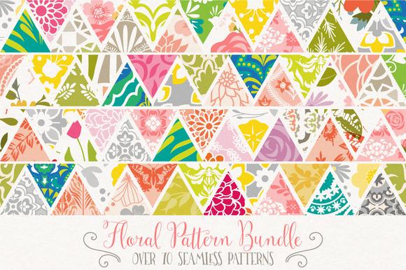Seamless Floral Pattern Bundle