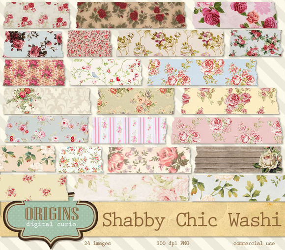 Shabby Chic Floral Washi Tape
