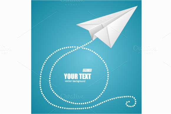 White Paper Plane On Blue Sky