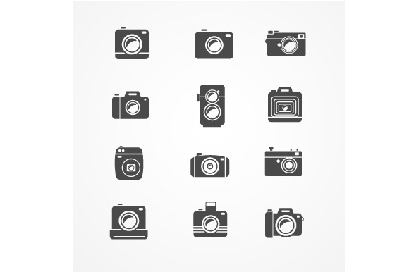 Vector Photo Camera Retro And New