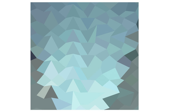 Cambridge Blue Abstract Low Polygon