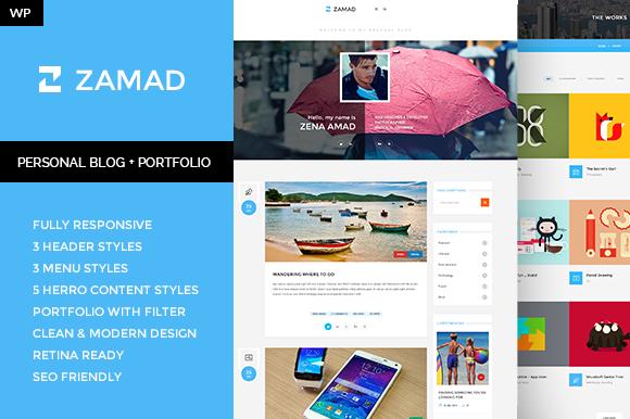 Zamad Personal Blog Portfolio