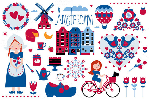 Amsterdam Illustrations