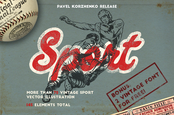 145 Sport Objects 2 FONT FOR FREE