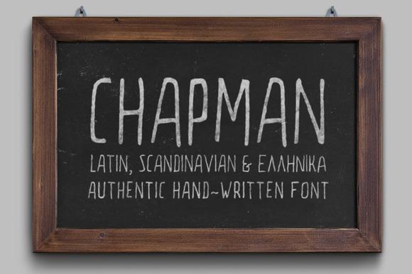 Chapman Handwritten Font