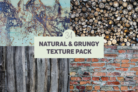 34 Natural Grungy Texture Pack