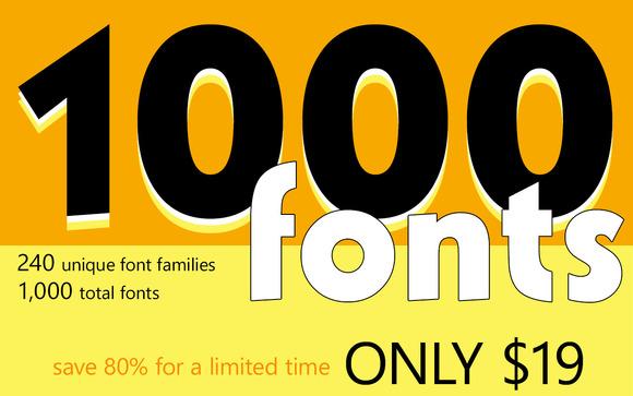 1000 OpenType Fonts